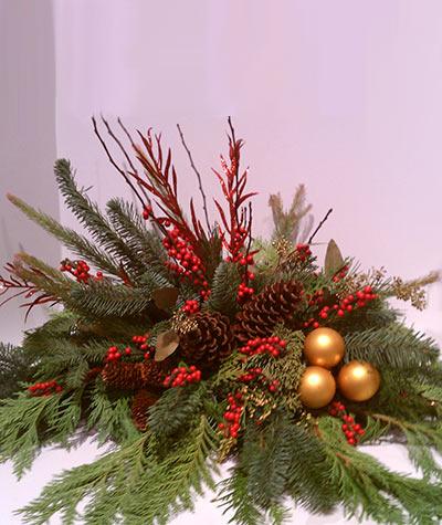 Evergreen Holiday Centerpiece