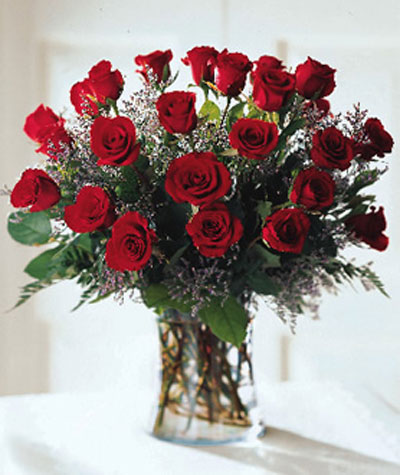 abundant rose bouquet 2 dozen roses castle rock florist. Black Bedroom Furniture Sets. Home Design Ideas