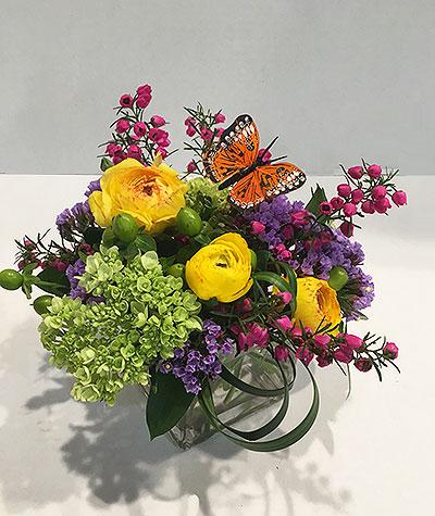 Buds And Butterflies Bouquet Spring Flowers Castle Rock Florist